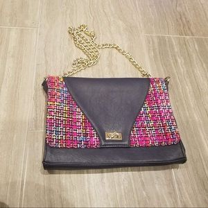 $98 CHRISTIAN LACROIX Tweed Chain Bag